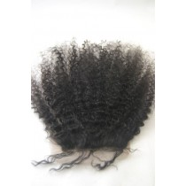 12 t/m 18 inch Indian remy  - top/lace closures - afro kinky (kinky curl) - haarkleur 1B - direct leverbaar