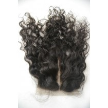 12 t/m 18 inch Peruaans virgin  - top/lace closures - curly - natuurlijke kleur - direct leverbaar