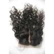 12 t/m 18 inch Peruaans virgin  - top/lace closures - curly - natuurlijke kleur - direct leverbaar