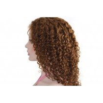 14 until 24 inch Indian remy  - front lace wigs - curly - hair color 4 - available immediatly