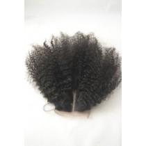 12 t/m 18 inch Peruaans virgin  - top/lace closures - afro kinky (kinky curl) - natuurlijke kleur - direct leverbaar