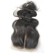 12 t/m 18 inch Peruaans virgin  - top/lace closures - wavy - natuurlijke kleur - direct leverbaar