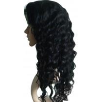 Deep wave - synthetische front lace wigs - maatwerk