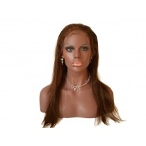 14 until 24 inch Indian remy  - front lace wigs - straight - hair color 4 - available immediatly