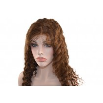 14 t/m 24 inch Indian remy  - front lace wigs - wavy - haarkleur 4 - direct leverbaar