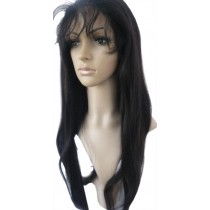 Silky straight - synthetische front lace wigs - maatwerk