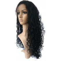 14 until 24 inch Indian remy  - front lace wigs - curly - hair color 1 - available immediatly