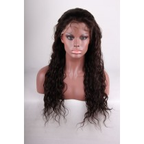 14 until 24 inch Indian remy  - front lace wigs - wavy - hair color 2  - available immediatly