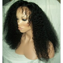 Afro kinky (Kinky curl) - synthetische front lace wigs - maatwerk