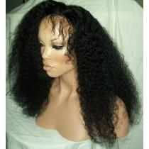 Afro kinky (Kinky curl) - synthetische front lace wigs - maatwerk