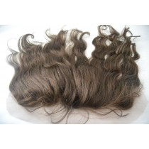 12 t/m 18 inch Indian remy  - lace frontals - wavy - haarkleur 3 - direct leverbaar