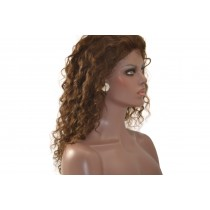 14 t/m 24 inch Indian remy  - front lace wigs - curly - haarkleur 3 - direct leverbaar