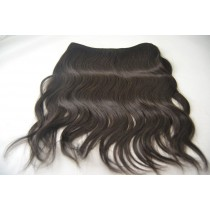 14 inch Indian virgin - Wire extension - Wavy - direct leverbaar