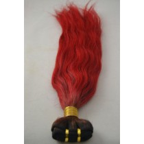 10 until 24 inch - Brazilian hair - straight - hair color fire red - exclusive - in stock
