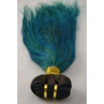 10 t/m 24 inch - Peruaans haar - straight - haarkleur turquoise - exclusief - op voorraad