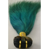 10 until 24 inch - Brazilian hair - straight - hair color alpine green - exclusive - in stock