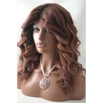 Handgemaakte pruik 9 - straight - haarkleur zacht paars - exclusief - direct leverbaar