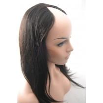 16 inch Braziliaans virgin - U-part front lace wigs - straight - natuurlijke haarkleur - direct leverbaar