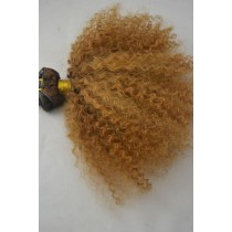 10 until 24 inch - Brazilian hair - afro kinky (kinky curl) - hair color gold blond - exclusive - in stock