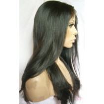 14 until 24 inch Indian remy  - front lace wigs - straight - hair color 1B - available immediatly