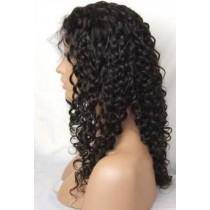 Water curl - synthetische front lace wigs - maatwerk